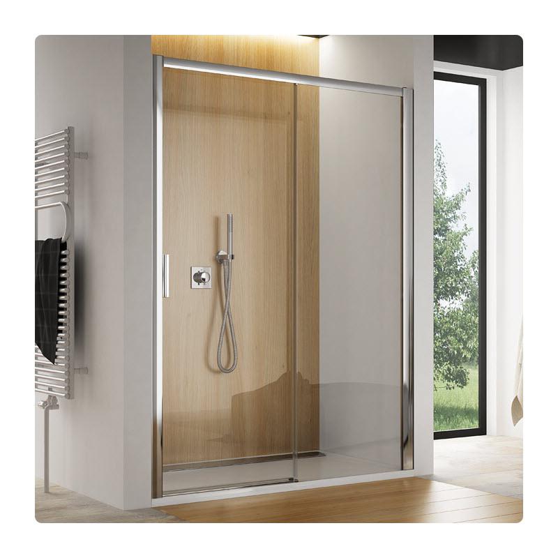 SANSWISS TOP-Line TBFS2 140 dvere sprch. 1-dielne s pevnu stenou v rovine bezbariérové pevný diel vpravo TBFS2D1405007