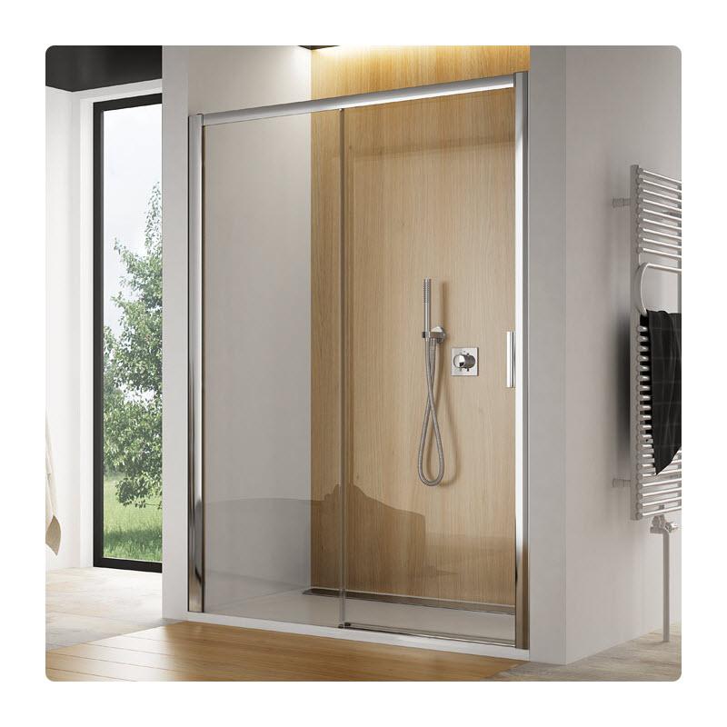 SANSWISS TOP-Line TBFS2 160 dvere sprch. 1-dielne s pevnu stenou v rovine bezbariérové pevný diel vpravo TBFS2G1605007