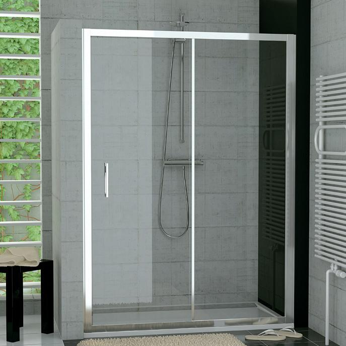 SANSWISS TOP-Line TopS2 120 dvere sprchové 1-dielne posuvné s pevnou stenou TOPS212005007