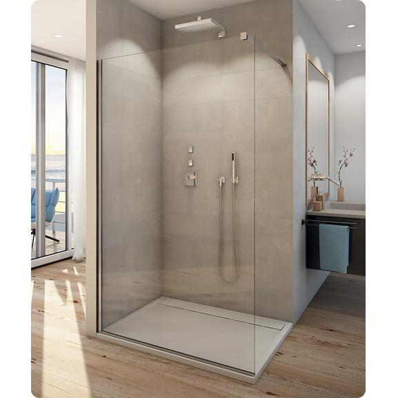 SANSWISS WALK-In Easy samostatná bočná stena 150x200 (Ľ/P) aluchróm číre sklo s Aquaperle
