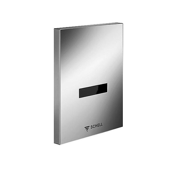 SCHELL batéria pisoárová podomiet EDITION E chróm infra na 230V(k telesu Shell Compact II ) 028080699