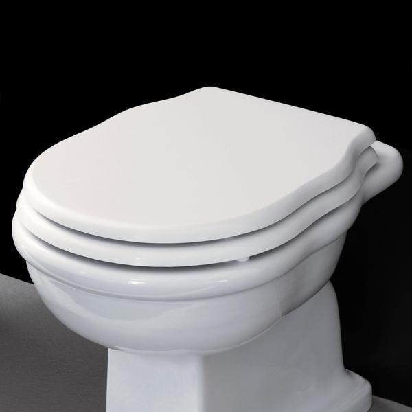 sedátko WC HERMITAGE biela, úchyt chróm Soft-Close