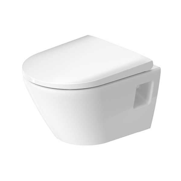Set 2v1 Duravit D-NEO závesná WC misa 37 x 48 cm Compact, Rimless, biela ( 2587090000) + WC sedátko SoftClose ( 0021690000), kód setu 45870900A1