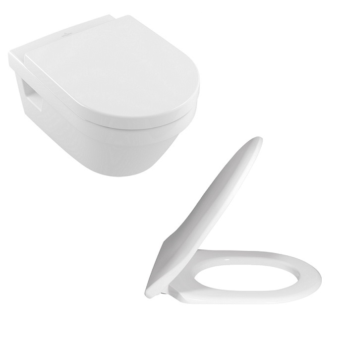 SET 2v1 misa WC závesná ARCHITECTURA O 37 x 53 DirectFlush + sedátko SoftClosing s AquaReduct biela Combi-Pack