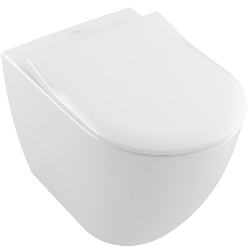 SET 2v1 misa WC závesná SUBWAY 2.0 37 x 56 biela DirectFlush + sedátko SLIM so SoftClosing a QuickRelease