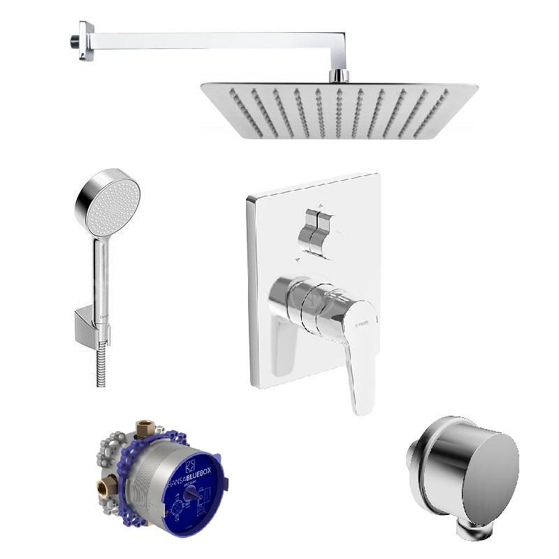 SET 6V1 pákový podomietkový POLO s hlavovou a ručnou sprchou (SET 2019)