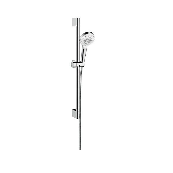 set sprchový CROMETTA 1jet s tyčou 0,65 m biela/chróm