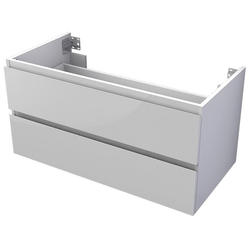 skrinka pod dosku MyVento 100 x 50 x 50 2-zásuvková biela lesklá