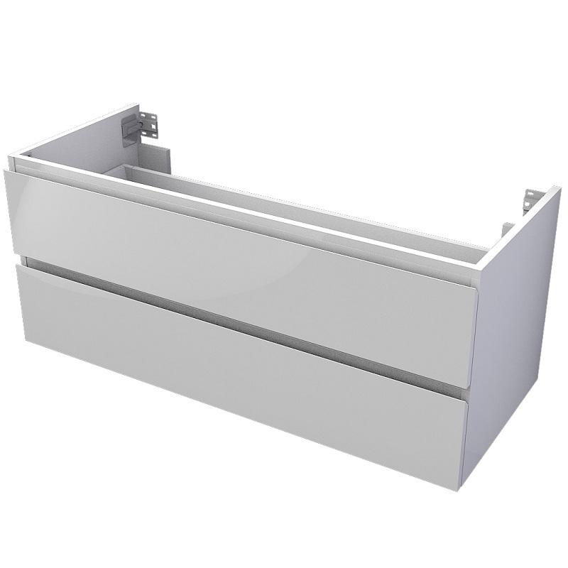 skrinka pod dosku MyVento 120 x 50 x 50 2-zásuvková biela lesklá