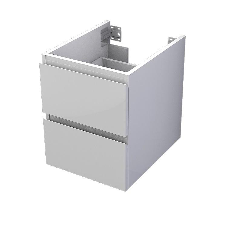 skrinka pod dosku MyVento 40 x 50 x 50 2-zásuvková biela lesklá