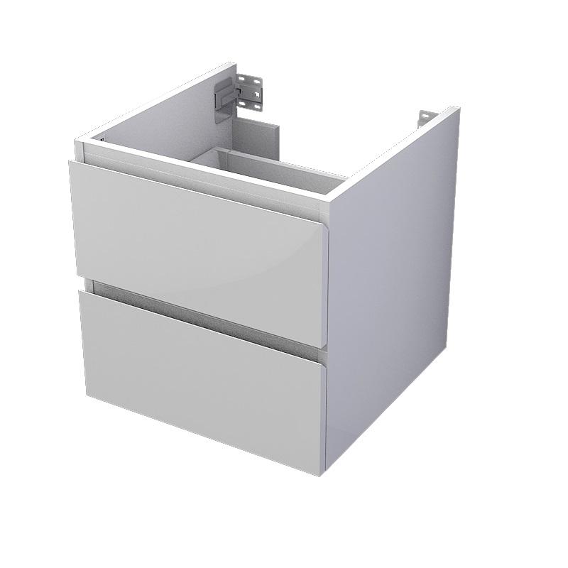 skrinka pod dosku MyVento 50 x 50 x 50 2-zásuvková biela lesklá
