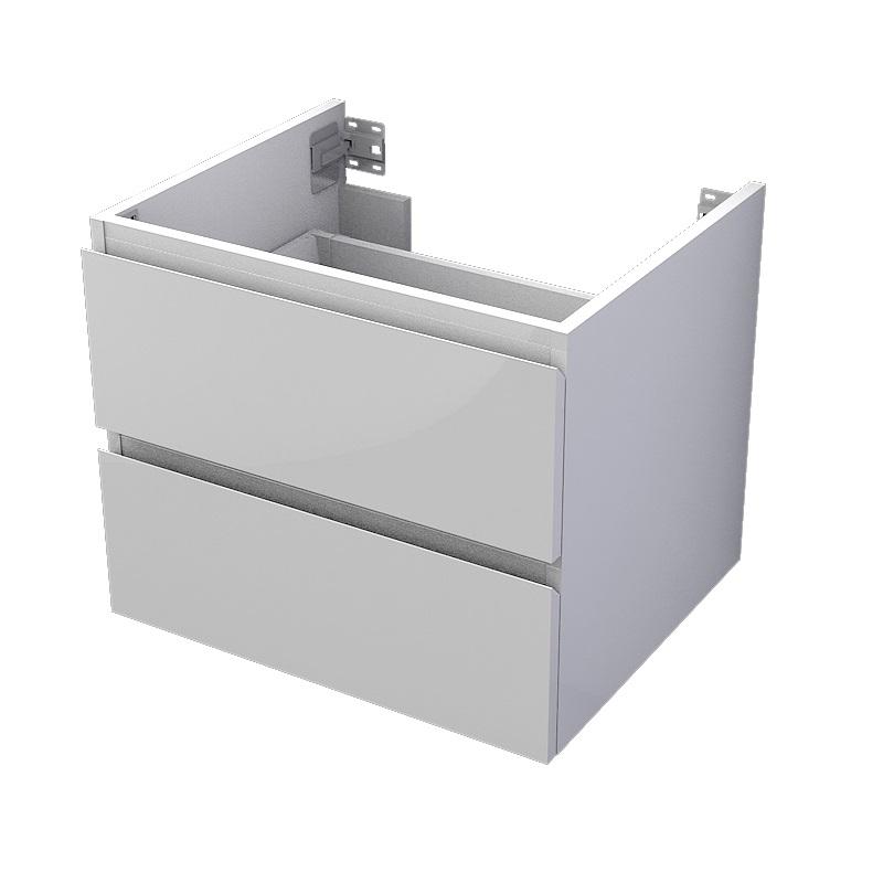 skrinka pod dosku MyVento 60 x 50 x 50 2-zásuvková biela lesklá