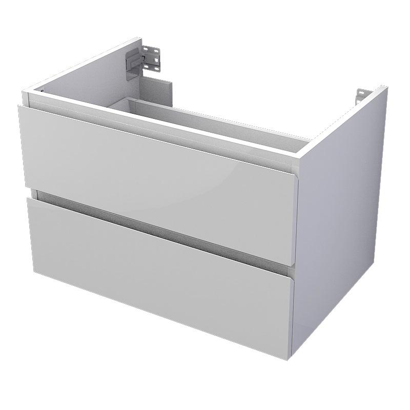 skrinka pod dosku MyVento 75 x 50 x 50 2-zásuvková biela lesklá