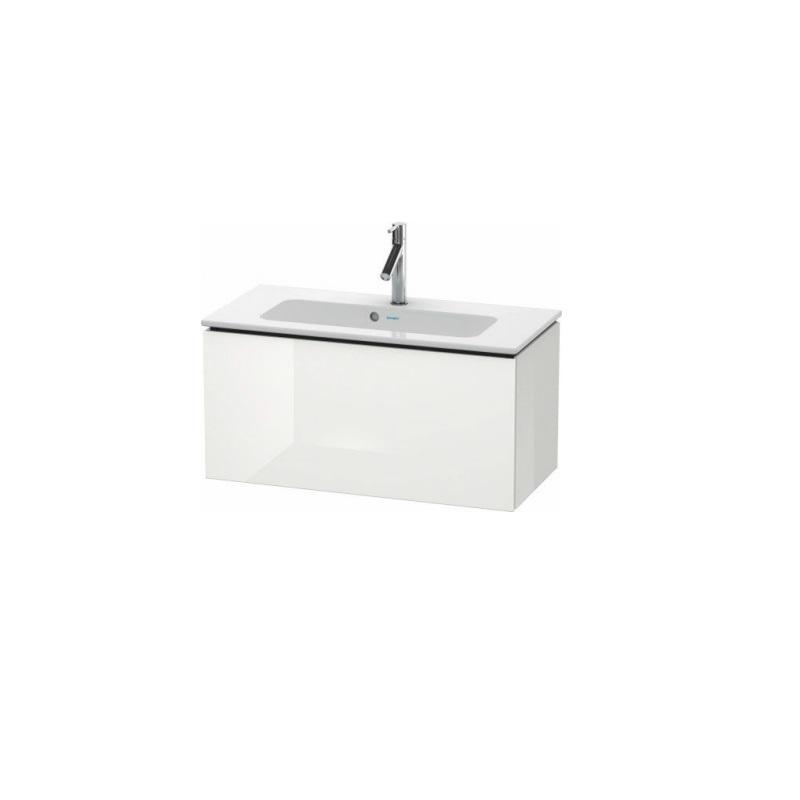 skrinka pod umývadlo L-CUBE 820 x 391 x 400 1 zásuv. Push Open biela lesklá