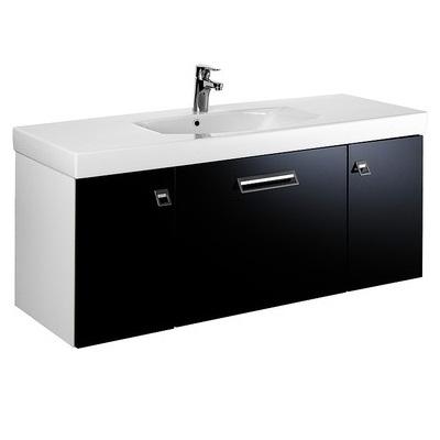 skrinka pod umývadlo LOGIC 120x40x45 cm biela lesklá/čierna