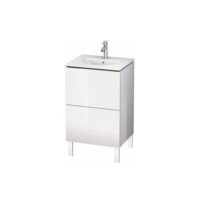 skrinka pod umývadlo stojaca L-CUBE 520 x 419 x 550 2 zásuv. Push Open biela lesklá