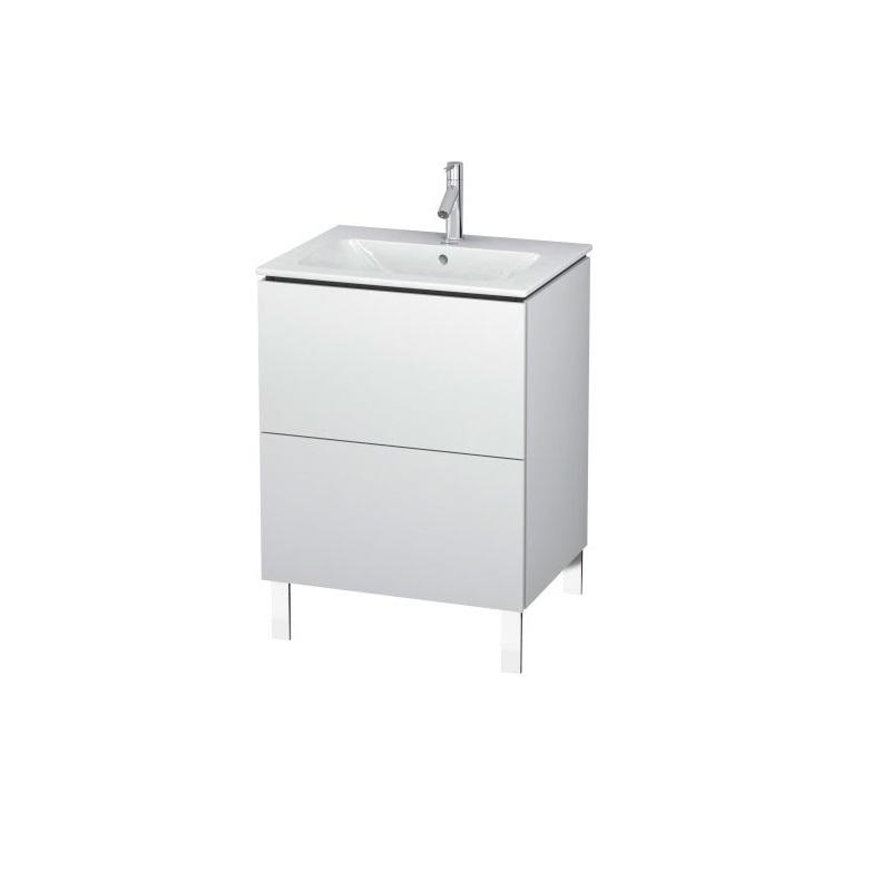 skrinka pod umývadlo stojaca L-CUBE 620 x 481 x 704 2 zásuv. Push Open biela lesklá