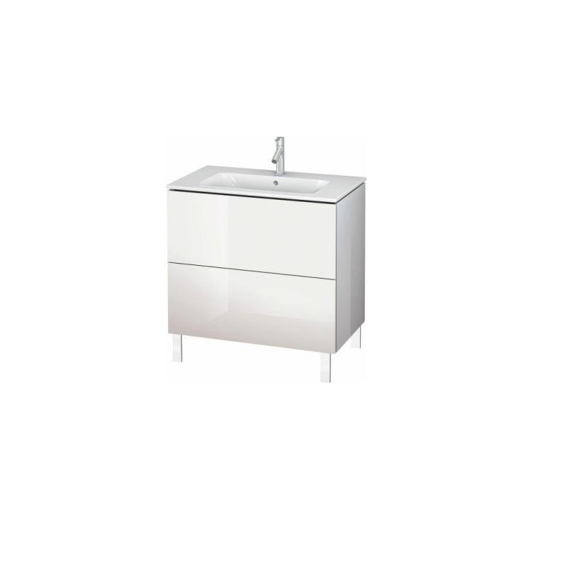 skrinka pod umývadlo stojaca L-CUBE 820 x 481 x 704 2 zásuv. Push Open biela lesklá