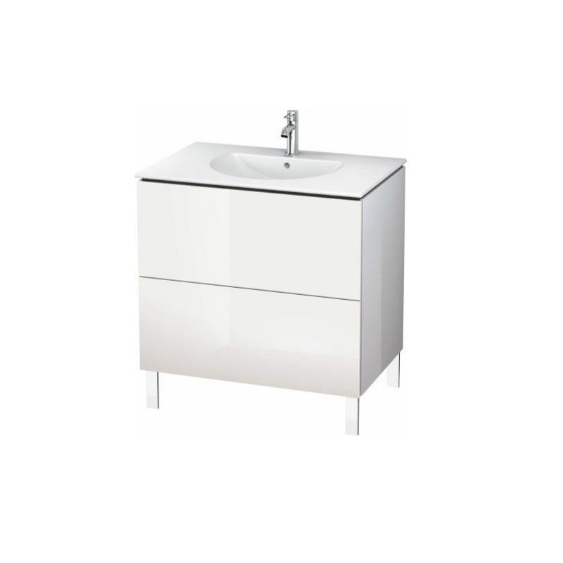 skrinka pod umývadlo stojaca L-CUBE 820 x 534 x 550 2 zásuv. Push Open biela lesklá