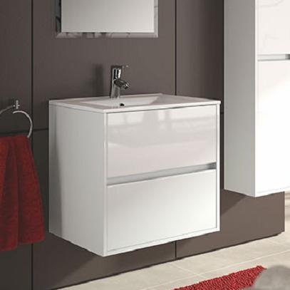 skrinka s umývadlom NOJA 60 2-zásuv. lesklá biela