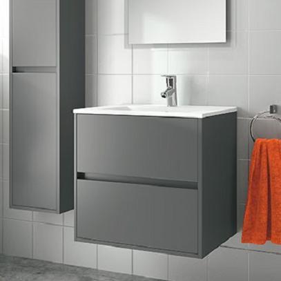 skrinka s umývadlom NOJA 60 2-zásuv. matná šedá