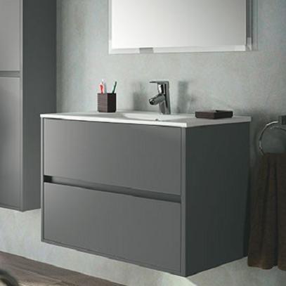 skrinka s umývadlom NOJA 80 2-zásuv. matná šedá
