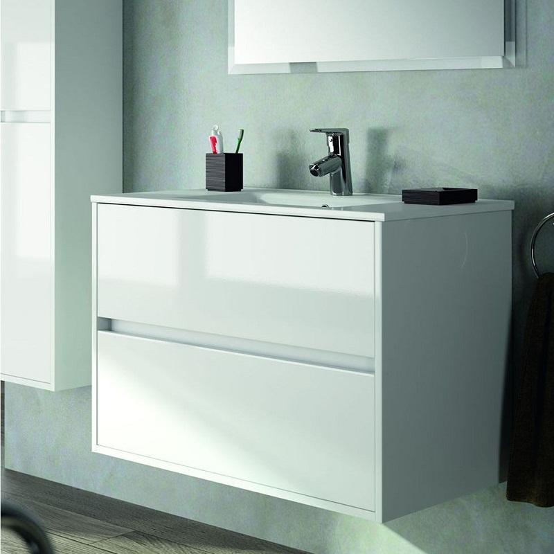 skrinka SALGAR NOJA 900 2-zásuv. závesná biela s umývadlom keramic. 91x46x56 cm