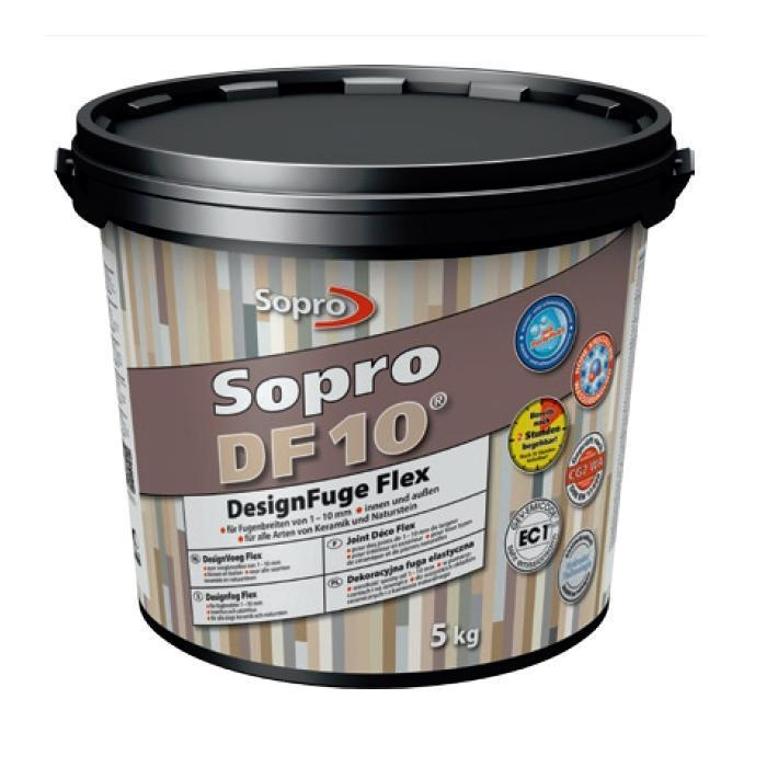SOPRO DF10 hmota škárovacia ebenholz 62 , 5kg 231162