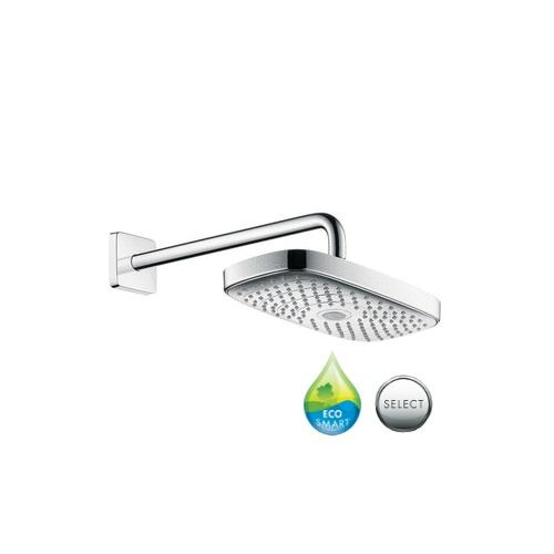 sprcha hlavová nást RAINDANCE Select E 300 2jet EcoSmart chróm s ramenom 390 mm