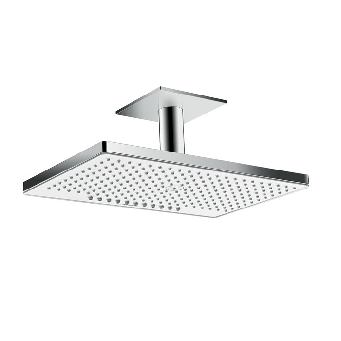 sprcha hlavová strop RAINMAKER Select 460 2jet EcoSmart s prívodom od stropu 100 mm biela/chróm
