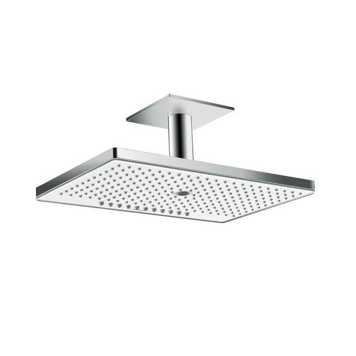 sprcha hlavová strop RAINMAKER Select 460 3jet EcoSmart s prívodom od stropu 100 mm biela/chróm