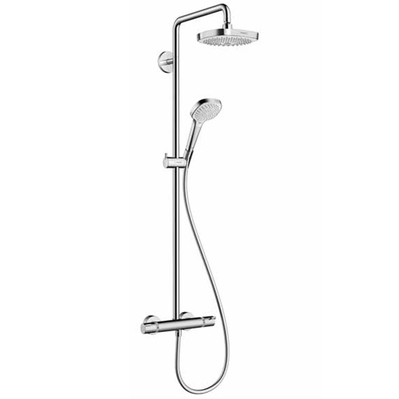 systém sprchový CROMA Select E 180 2jet Showerpipe s termostatom biela/chróm