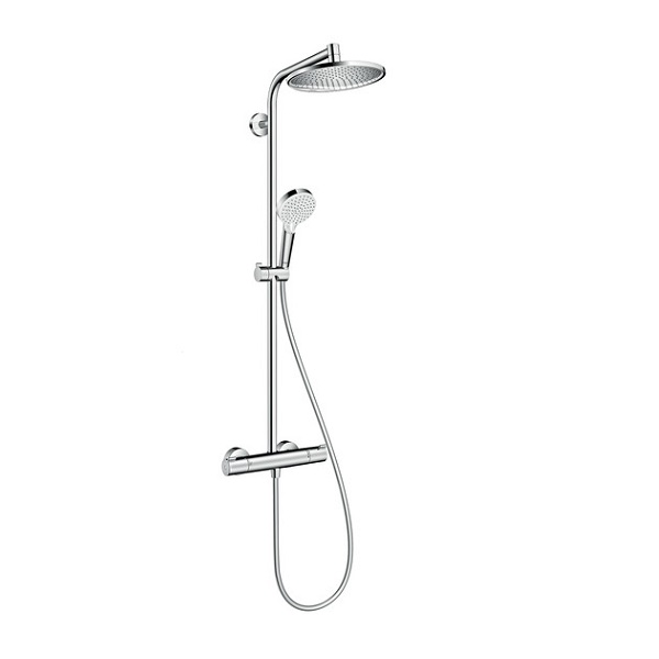 systém sprchový CROMETTA S 240 1jet Showerpipe EcoSmart s termostatom chróm