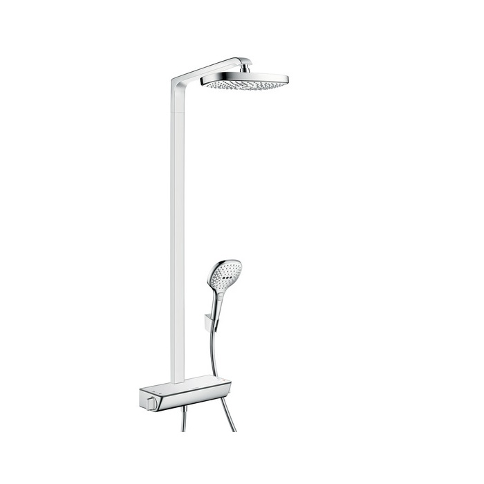 systém sprchový RAINDANCE Select E 300 2jet Showerpipe EcoSmart s termostatom biela/chróm