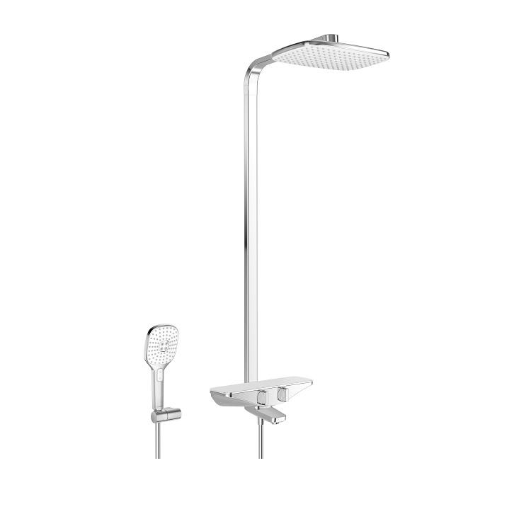 systém sprchový termostat EMOTION s hlavovou sprchou a vaň bat chróm/biela