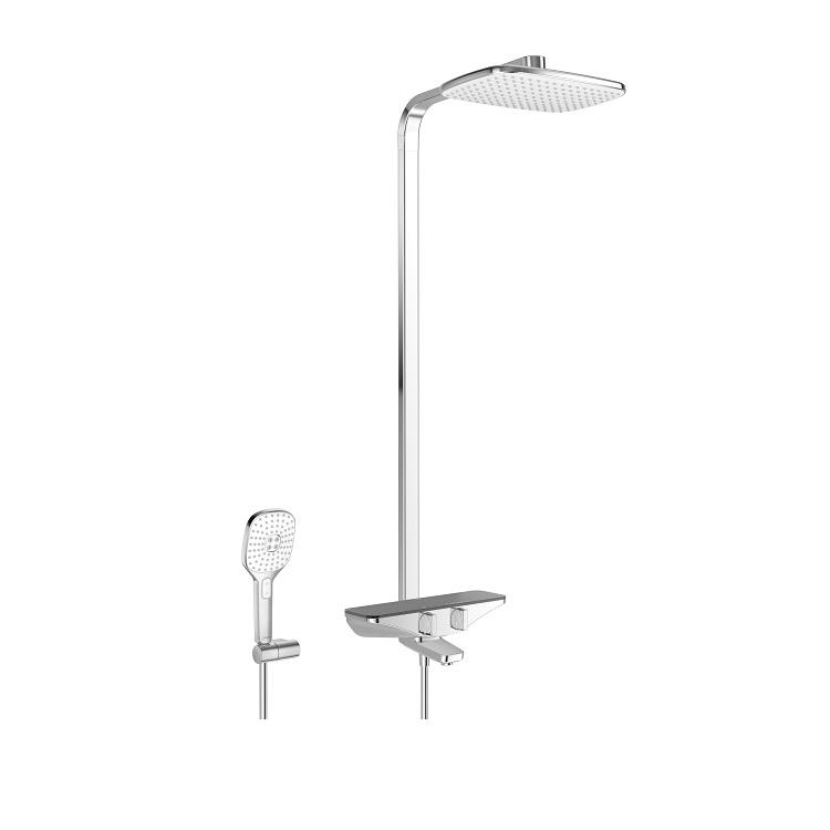 systém sprchový termostat EMOTION s hlavovou sprchou a vaň bat chróm/sivá