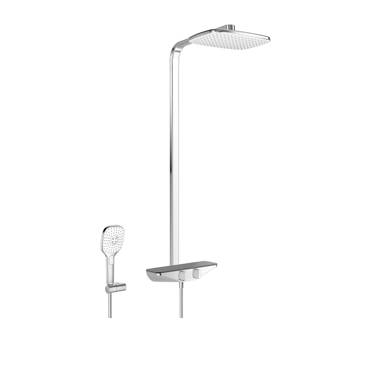 systém sprchový termostat EMOTION s hlavovou sprchou chróm/sivá