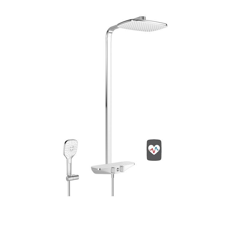 systém sprchový termostat EMOTION Wellfit s hlavovou sprchou chróm/biela