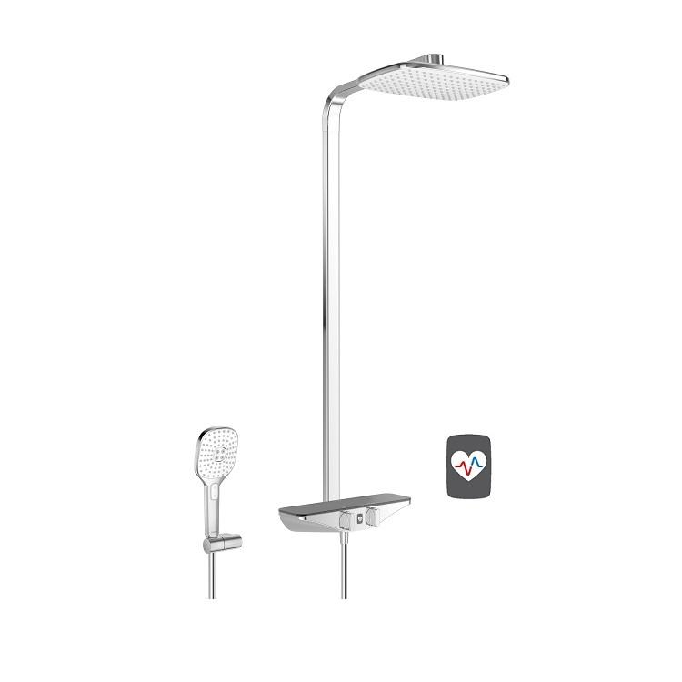 systém sprchový termostat EMOTION Wellfit s hlavovou sprchou chróm/sivá