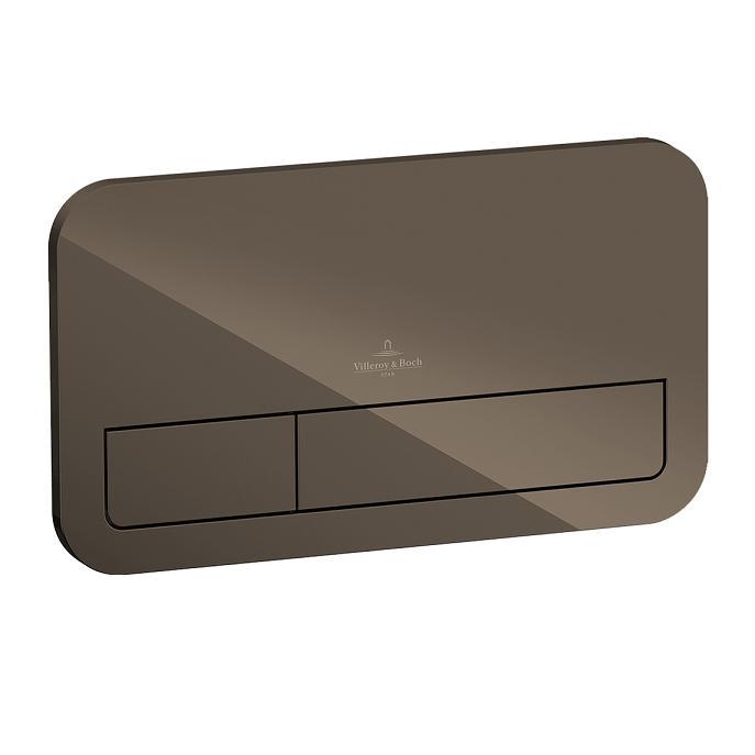 tlačítko WC VICONNECT M200 sklo terra hnedé
