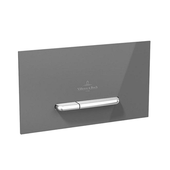 tlačítko WC VICONNECT M300 25,3 x 14,5 x 2 cm Glass Glossy Grey/Nerez