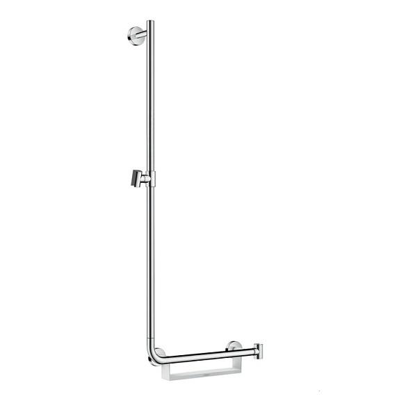 tyč sprchová UNICA Comfort 1,10 m L lavá s mydelničkou biela/chróm