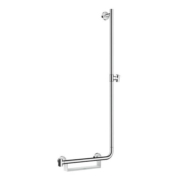 tyč sprchová UNICA Comfort 1,10 m R pravá s mydelničkou biela/chróm