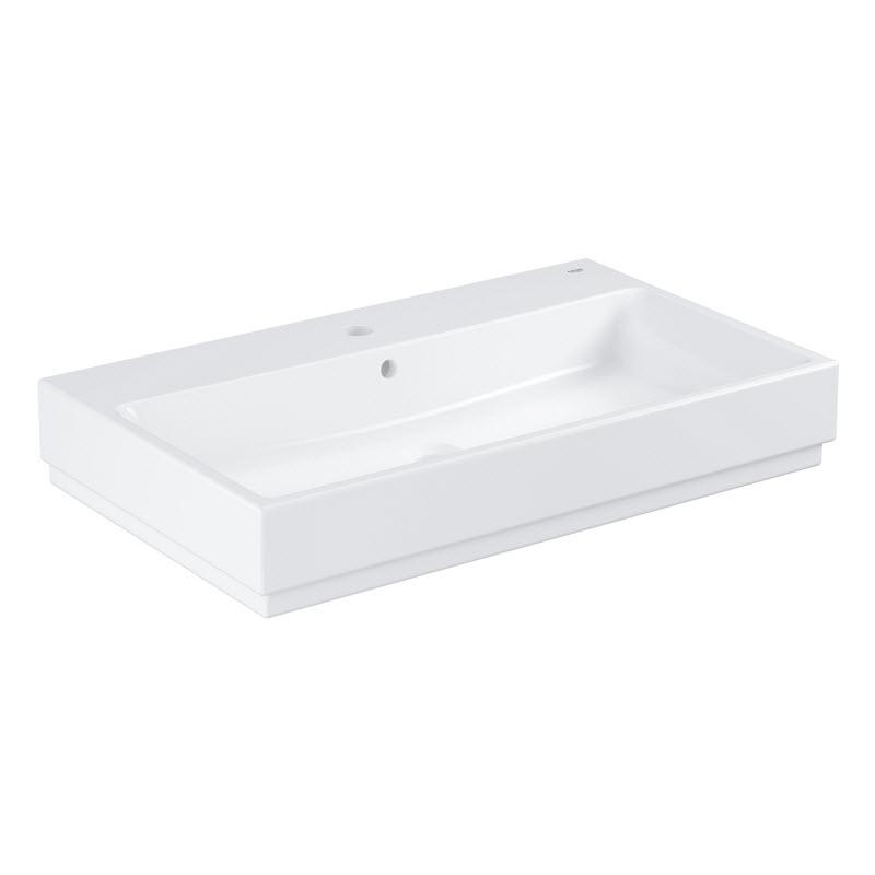 umývadlo CUBE Ceramic 800 mm na dosku biele