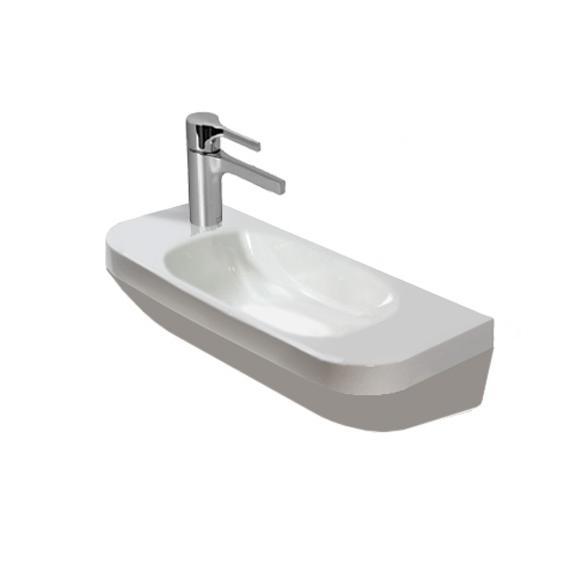 umývadlo DURA STYLE 50 x 22 bez prepadu otvor vľavo biele s WG