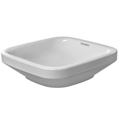 umývadlo na dosku miska DURA STYLE 43 x 43 biela bez prepadu