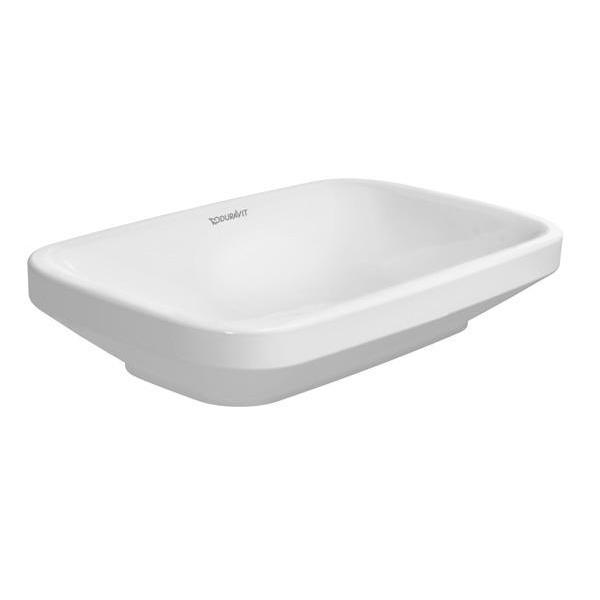 umývadlo na dosku miska DURA STYLE 60 x 38 biela bez prepadu s WG