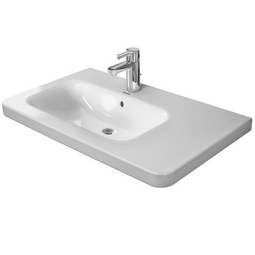umývadlo nábytkové DURA STYLE 80 x 48 asymetrické biela ( umývadlo vľavo ) s WG