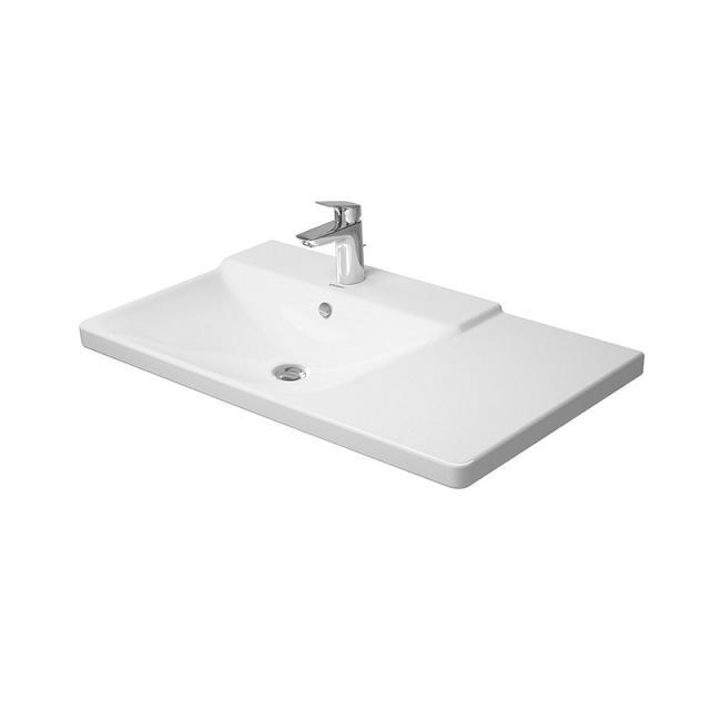 umývadlo nábytkové P3 Comforts 85 x 49,5 cm s prepadom, ľavé, asymetrické biele