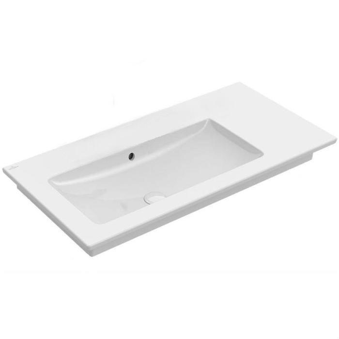 umývadlo VENTICELLO 100 x 50 cm, bez otvoru pre batériu, asym ľavé, biela